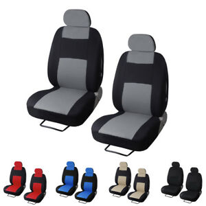 2pc Universal Car Seat Covers Front Head Rests Full Surround Auto Seat Cover