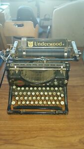 Approx 1920 S Antique Underwood No 5 Manual Typewriter Non Working
