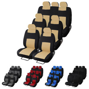 Comfort Breathable Car Seat Covers 3 Row 7 Seat Full Set For Auto Suv Van Truck