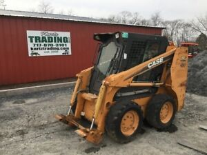 2007 Case 410 Skid Steer Loader W Cab Needs Repair Only 1600hrs