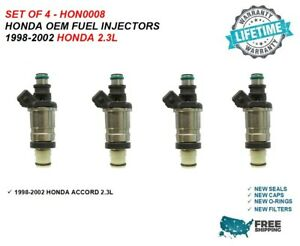 Honda Oem Fuel Injectors 4x For 1998 1999 2000 2001 2002 Honda Accord 2 3l I4
