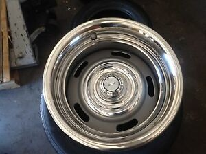 New Corvette Chevy Camaro Rally Wheels 15 X 8 Or 7s Silver