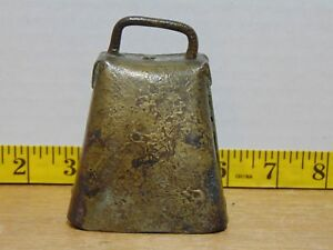 Antique Primitive Metal Cow Bell Rustic 3 3 4