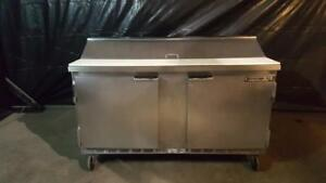 Beverage Air Sp60 16 60 Two Door Refrigerated Sandwich Prep Table