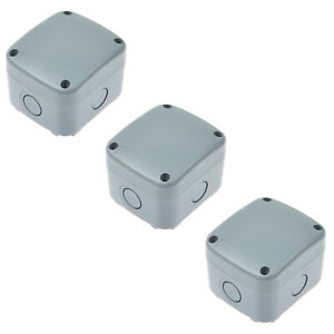 3 Pack Waterproof Junction Box Weatherproof Plastic Electric Enclosure Case Ip66