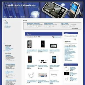 Portable Audio Video Device Online Business Website For Sale Free Domain Name