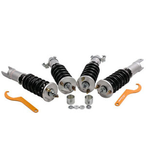 Coilovers For Honda Civic 92 95 Eg Ej Eh 94 01 Integra Dc Db Adj Damper Grey