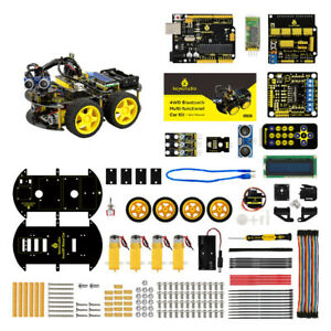 4wd 1 48 Bluetooth Multi functional Mini Car Assembly Kit For Arduino Kids Toy