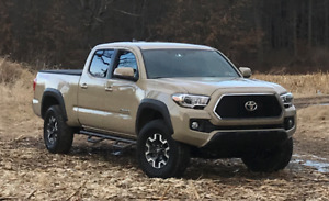 Fit 2005 2019 Toyota Tacoma Double Cab Black Nerf Bars Steps Running Boards