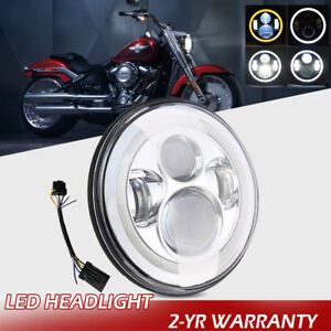Motorcycle 7 Inch Led Projector Headlight Daymaker Hi lo Beam For Harley Touring