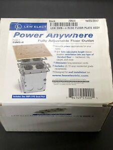 Lew Electric Swb 4 pq Recessed Brass Floor Plate W Box Outlet