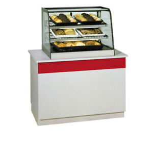 Federal Cd4828 Countertop Display Case Curved Glass Non refrigerated 48 Long