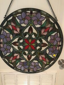 Stained Glass Round Window Panel 23 5