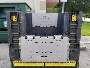 Hard Plastic Collapsible Shipping Warehouse Container Crate Mixed Brand 48x45x28