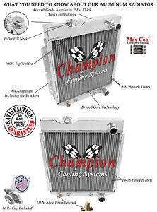 2 Row 1 Discount Champion Radiator For 1964 1965 1966 Ford Mustang V8 Engine