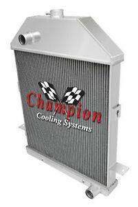 1941 Ford Pickup Truck W chevy V8 Champion 3 Row Aluminum Dr Radiator