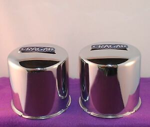 Cragar 6 Lug Chrome Custom Wheel Center Cap Set Of Two 2 29271 1