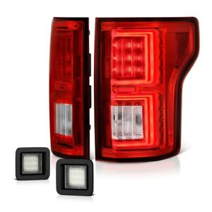 Red Oled Neon Tube Tail Lamp 15 17 Ford F150 Super Bright License Plate Light