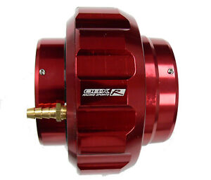 Obx 2 5 64mm Aluminum In Line Blow Off Valve Fits 2 5 Id Pipe Red