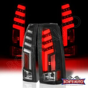 For 88 98 Chevy Silverado spartan Black 3d Bar Led Taillights Pickup Brake L r
