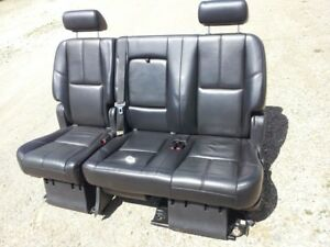 07 14 Gm Gmc Escalade Tahoe Yukon Black Leather Seats 09 60 40 Bench Short Body
