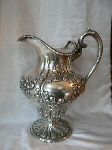 Bailey Banks Biddle Sterling Silver Water Pitcher Hand Chased Frank Smith