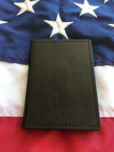 Tex Shoemaker Leather Police Sheriff 6 Point Star Badge Double Id Case Wallet