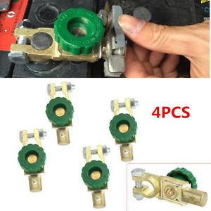 4x Quick Cut Off Car Side Post Battery Terminal Link Kill Shut Switch Disconnect