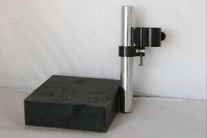 Granite Surface Plate W 1 Rod Indicator Or Chemistry Holder Stand