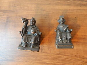 Two Chinese Bronze Sculptures Nice 3 Inch 2 7 8 Inch Tall International Sale
