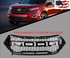 Front Bumper Grille Ford Edge Raptor Style Mesh Gloss Black For Ford 15 17