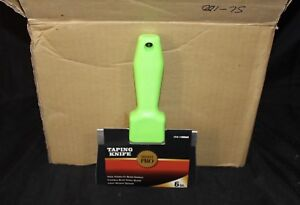 Case Of 12 Drywall Taping Knife 8 Stainless Steel Green Neon Handle