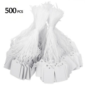 500 X Label Tie String Strung Ticket Jewelry Merchandise Display Price Tags Set