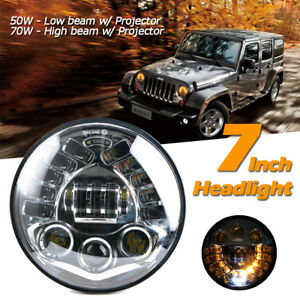 7 Motorcycle Led Hi lo Headlight Turn Signal Light Drl For Harley Jeep Wrangler