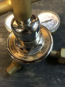 Used Victor Journeyman Oxygen acetylene Regulators W torch Head