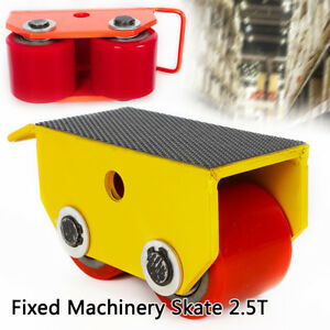 2 5t 5500lb Heavy Duty Machine Skate Roller Fixed Steel Machinery Mover 2 Roller