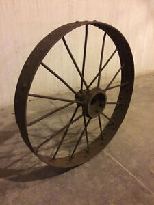 Large Vintage Steel Wheels For Antique Tractor 40 W