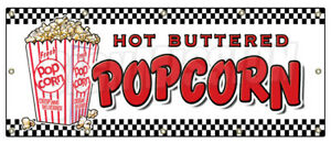 48 x120 Popcorn Banner Sign Stand Cart Concession Signs