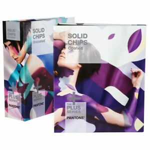 Pantone Solid Chips Two book Set Coated Uncoated Gp1606n 2016 Year New