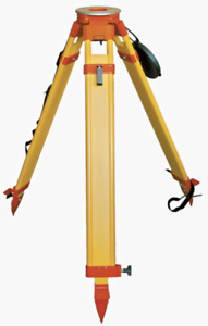 Wooden Heavy Tripod 8kg With Dual Clamp For Theodolite Total Station