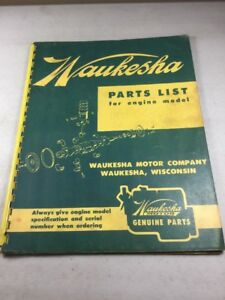 Waukesha 190gl 190glb Engine Parts Manual