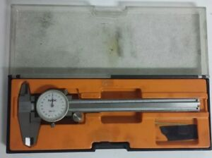 Nsk Dial Caliper 001 Stainless 6 Inch Made In Japan Used Free Shipping