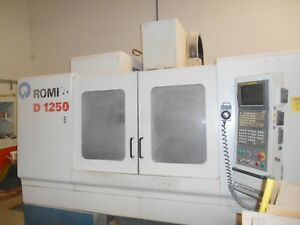 2005 Romi D 1250 Cnc Vertical Machining Center Fanuc 21i 50 X 24 Y 25 Z