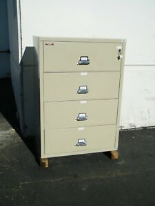 Fireking 4 Drawer Lateral File Cabinet 37 5 X 22 X 53 Fire Proof Security