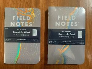 Field Notes Coastal West Special Edition Reticle Grid Memo Books 3 pack New