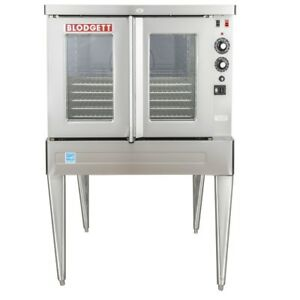 Blodgett Sho 100 e Single Deck Full Size Electric Convection Oven 208v 3phase