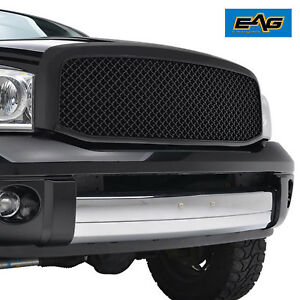 Eag Abs Mesh Replacement Black Grille 06 08 Dodge Ram 1500 06 09 Ram 2500 3500
