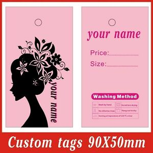 500pcs custom Print Logo On Hang Tags full Color Two Side Print Clothes Tags