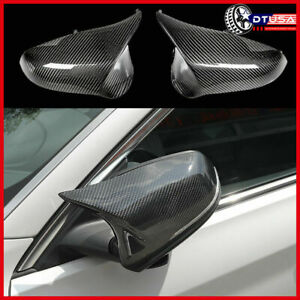 Authentic Carbon Fiber Side Wing View Mirror Cover Cap For Bmw 3 F30 4 F32 2010