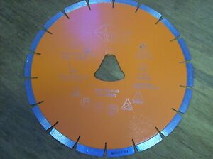 10 Orange Liberty Bell Blade For Soff Cut Saw Early Entry Concrete Blade